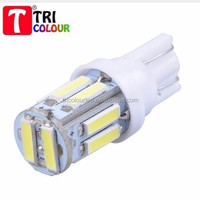 Factory T10 7014 10 SMD W5W 10Led Auto Door Lights 12V 7000K Instrument Lamps White Auto Car Led Light Bulbs Wholesale