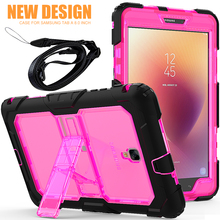 3 in 1 Unique fashion clear PC back tablet 8.0 case for Samsung galaxy Tab A2 S rugged cover car using