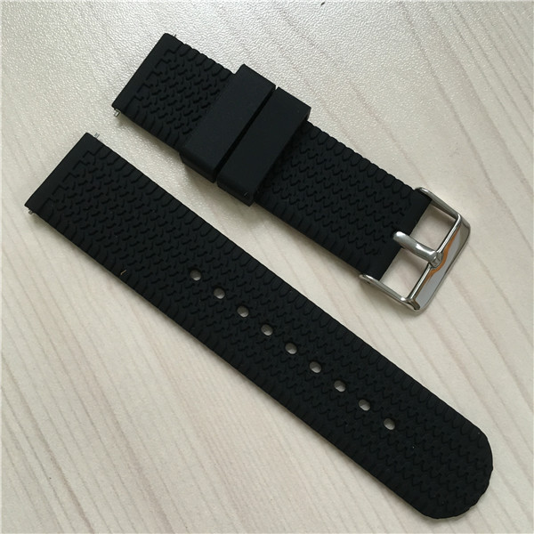 quick release silicone watch band removable