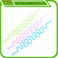 colorful plastic crazy screwy drinking straw