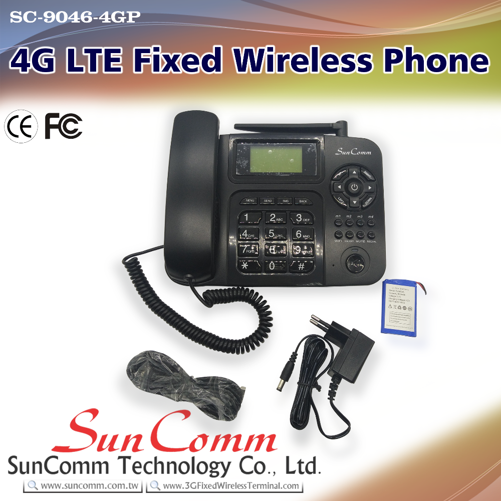 SC-9046-4GP Hand-free 4g volte voip fixed wireless phone CE