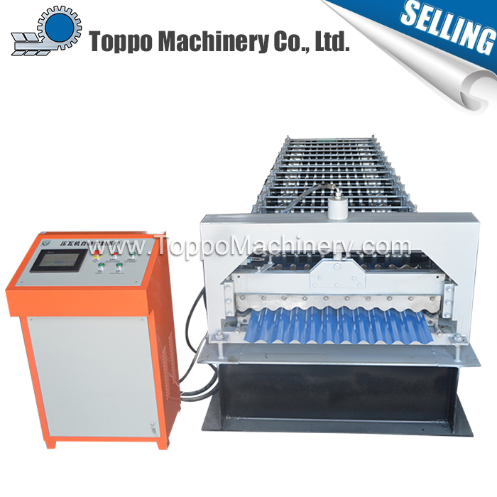Durable competitive price corrugated steel profile roll forming machine