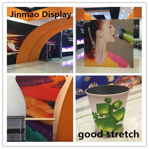 Digital printing sublimation/UV/LATEX printing 100 PCT display fabric with stretch good elasticity