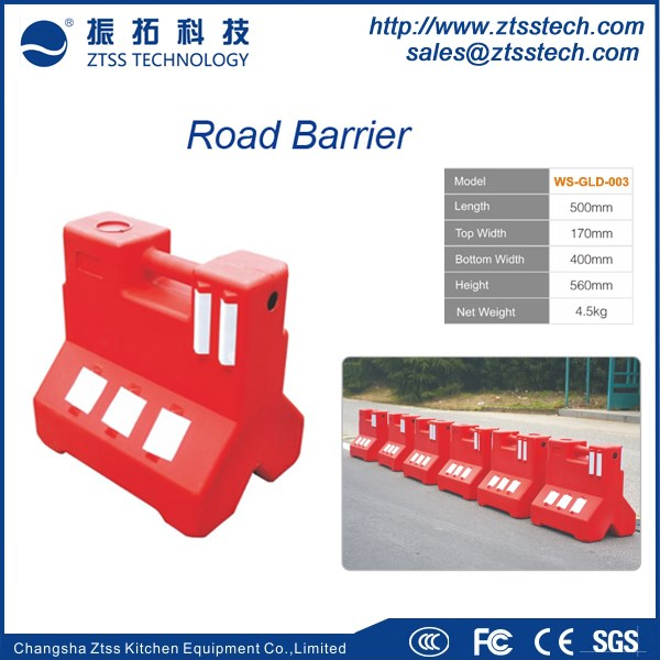 500mm length construction road barriers Plastic road safety jersey barrier for traffic safety