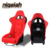 Hot Selling Design Racing style Universal Red Velvet Black Silvery Fibergalass Bucket car seat--MS