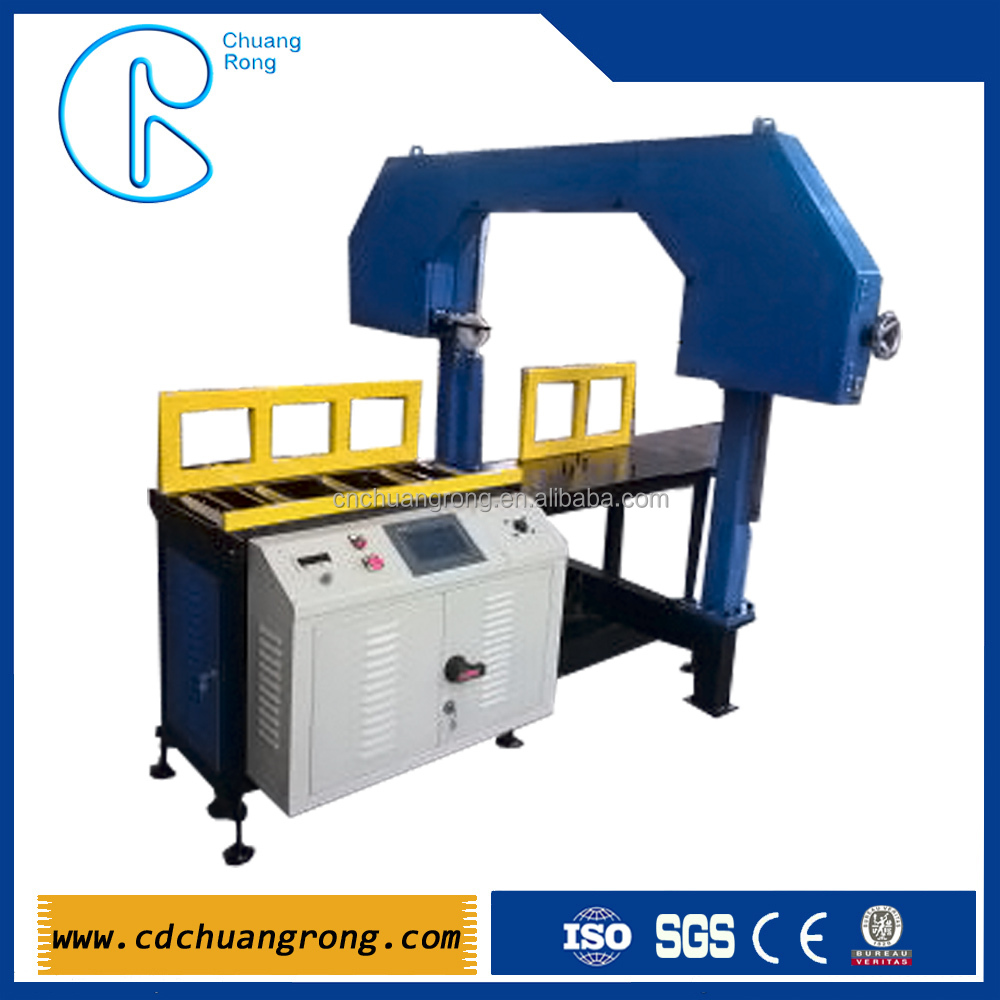 PLASTIC HDPE PIPE CUTTING Band Saw