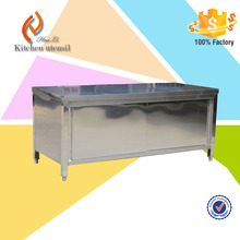 hilton hotel kitchen display stainless steel commercial kitchen sink cabinet manufacturer for sale