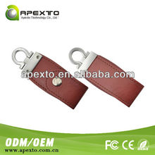 key chain leather 8gb usb flash drive