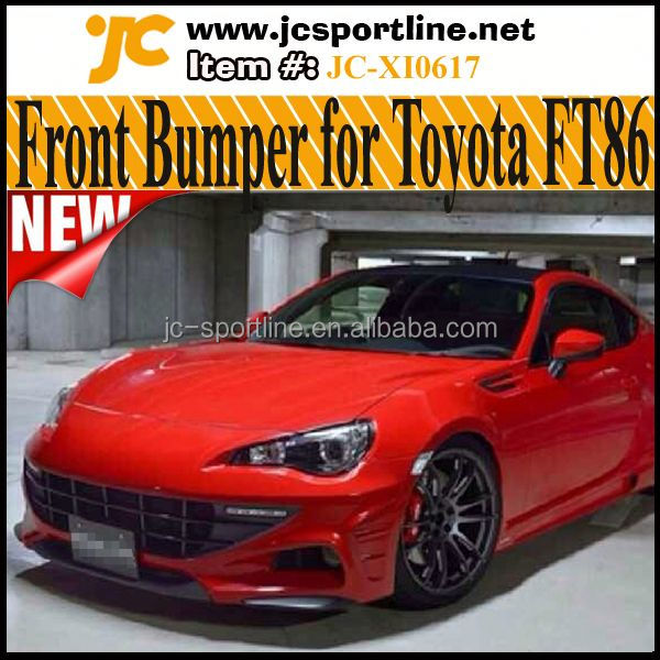 FT86 Front Bumper of Body Kits For Toyota 86 SCION FR-S GT86 FT86 AE86 Changed to Ferrari look