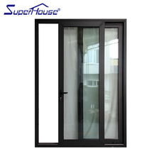 North America CSA/NFRC/Florida standard commercial system black color double glass aluminum sliding door with German hardware
