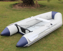 blue and black Inflatable Boat With Aluminum Floor CE certification
