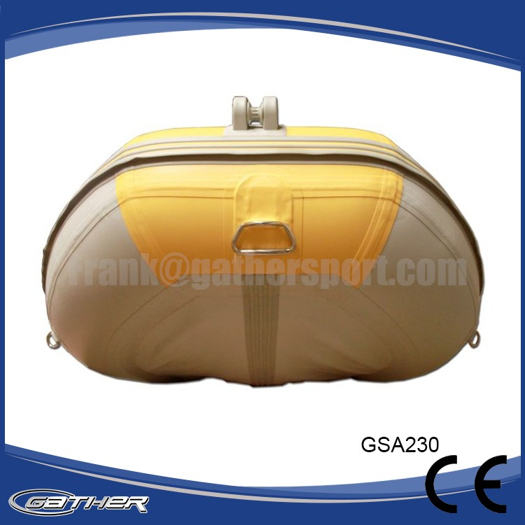Gather High Quality China New Style PVC alumium floor inflatable plastic boat