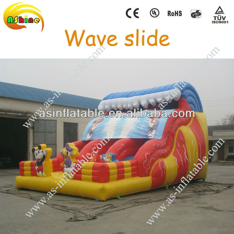 Vivid design&popular high quality inflatable wave slide for sale
