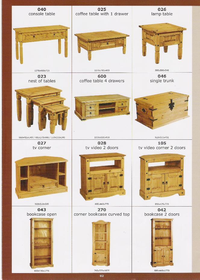 Muebles en madera de pino otros muebles de madera - Muebles de madera de pino ...