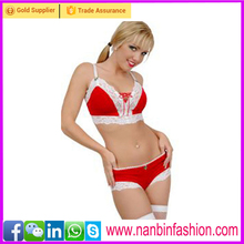 New style fashion two pcs christmas sexy costume lingerie