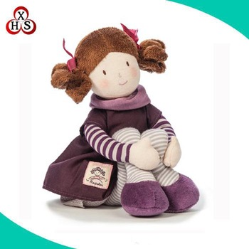 18 inch custom plush American girl doll movable joints soft doll