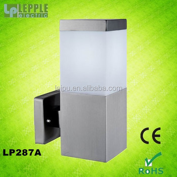 E27 lampholder MAX.60W IP44 new modern squared outdoor wall lamp fixture