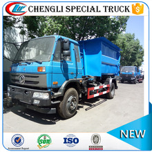 Dongfeng 145 4x2 RHD Detachable Rear Loader Garbage Truck Hook Lift Garbage Truck