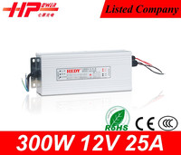 Reliable Guangzhou factory CE RoHs rainproof constant voltage single output 300w 25amp 12v switch power suppli for asus