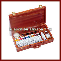 Wholesale Handmade Wooden Oil Paint and Paint Brush Set Box