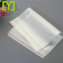 2017 wholesale promotional clear self adhesive stick packing plastic opp poly bag