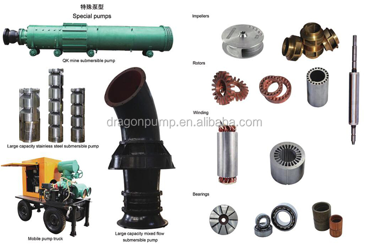 3 phase 7hp submersible water pump