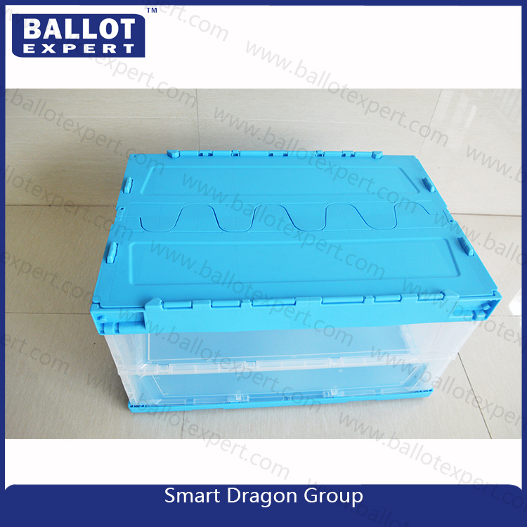 Stackable folding crates SE-SBT003 pvc PE plastic clear collapsible boxes making factory turnover basket
