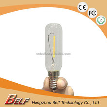 Top Quality Material Clear Glass T20 Led filament christmas light edison bulb with e12 e14 base 2700k 2200k Warm White