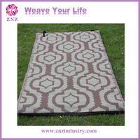 Woven polypropylene beach mat / Design and size can be customized