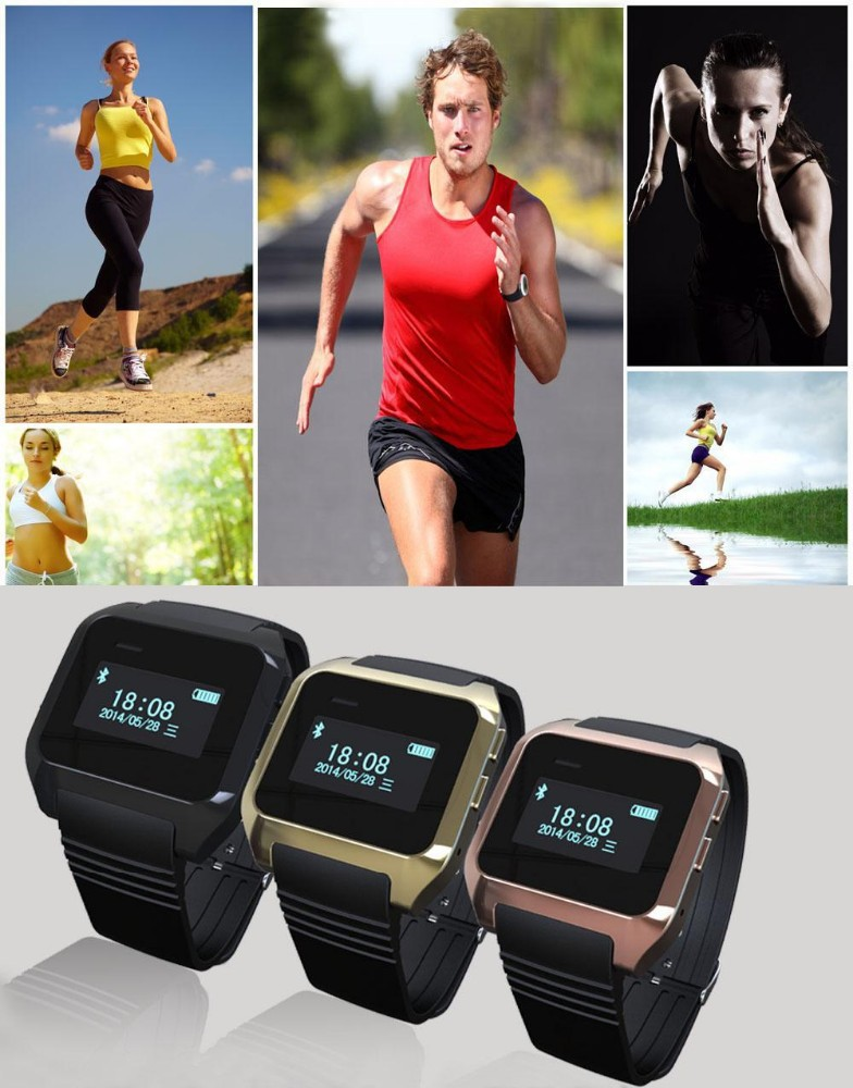2016 men dress digital smart watch Support multi-languages OLED call ID display bluetooth watch