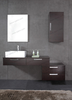 MDF particle board with malamine faced wall hung bathroom cabinet