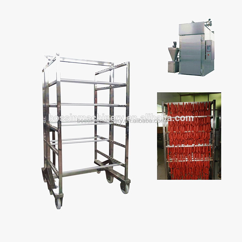 High efficient cheapest trolley sausage smokehouse