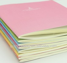 A5 saddle stitch softcover notebook with 96pages