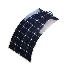 high efficiency waterproof portable flexible solar panel 100w for rv best solar cell price