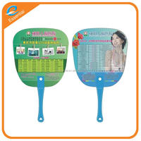 Hot selling eco-friendly paper fan PP hand fan for promotion