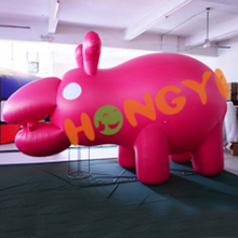 Giant inflatable hippo animal big pink advertising hippo inflatable model series for sale