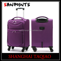 4 wheels trolley case trolley luggage sky travel luggage with best quality