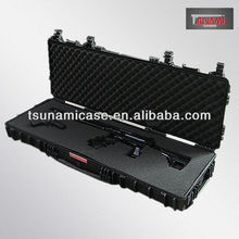 Factory outlet!Waterproof hard plastic gun display case/plastic high quality military survivor case