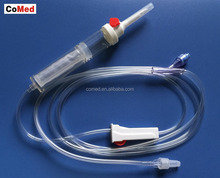 EO sterilized luer lock china blood giving set with needle transfusion set