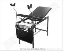 Adjustable stainless steel medical hospital obstetric delivery bed