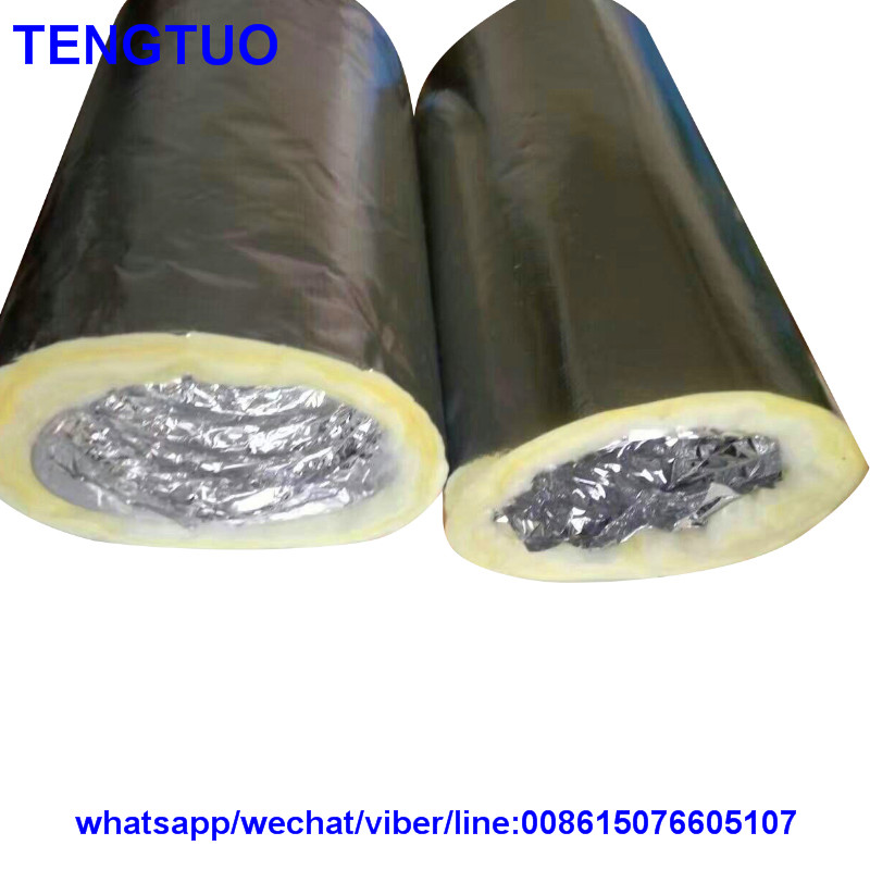 Round flexible air hose insulation