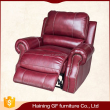 Classic styling single seat relax plush genuine leather reclining sex chair