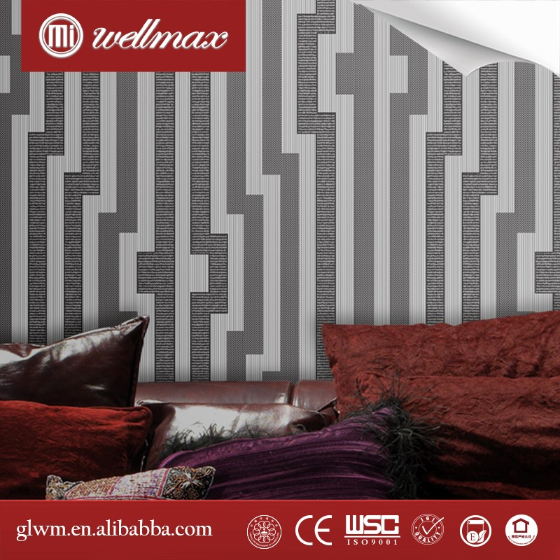 Wellmax Hotel Decorative New Fashion Special Modern Design non-woven Wallpaper