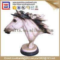 Antique Polyresin Resin Horse Head Statue Life Size and resin antique white animal horse statues for sale