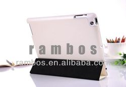 For iPad 4 Folding Cover Magnetic Leather Case with Sleep/Wake Function Hard Shell w/Stand for iPad 2 3 4