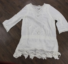 cotton material long sleeve body blouse