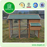 Large Wooden Waterproof Roof Green Chicken Coops For Sale