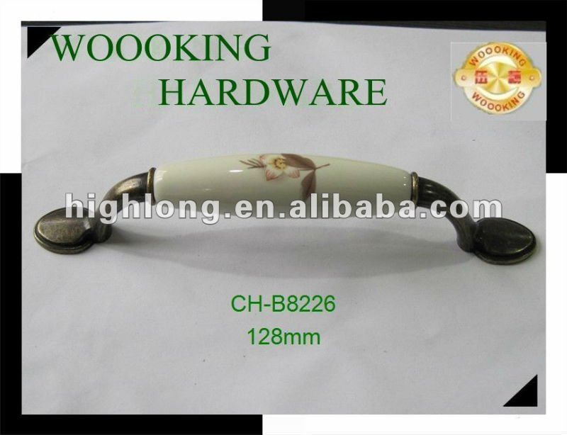 Supply Ceramic Furniture Pull Handle For Kitchen Cabinet