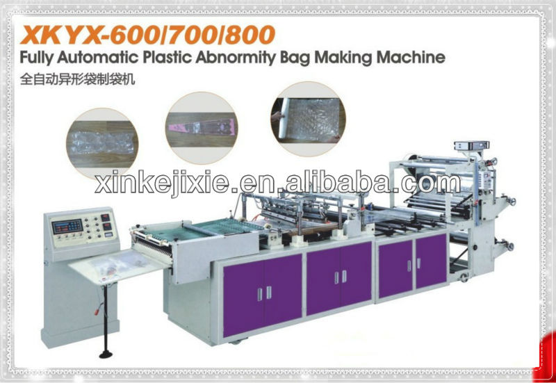 Abnormity plastic bag flower bag making machine from XinKe machine