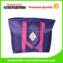 210D polyester purple wine holder bag with EPE aluminum foil cooler